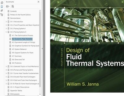 Design of Fluid Thermal Systems by William S. Janna Fourth Edition (PDF)