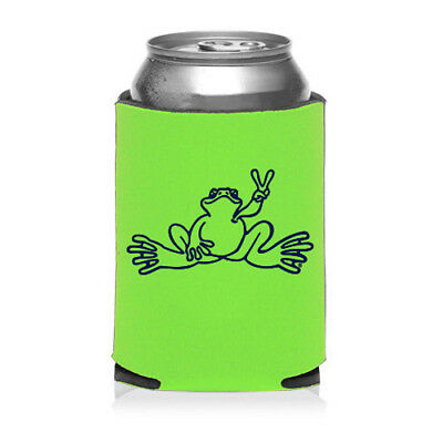 New Peace Frogs Lime Can Koozie