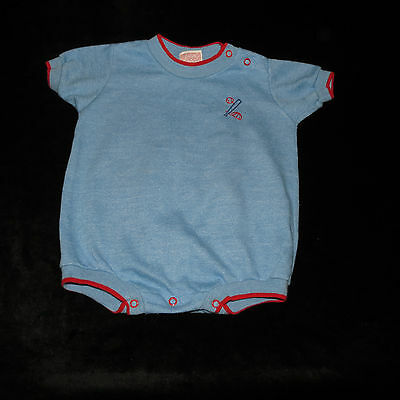 Sweet Vintage Tog-A-Longs Durable Press Baby Boy's One Piece Creeper 12 M Evc