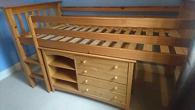 NEXT Julian Bowen Barcelona Sleepstation Cabin / Mid Sleeper Single Bed Newport