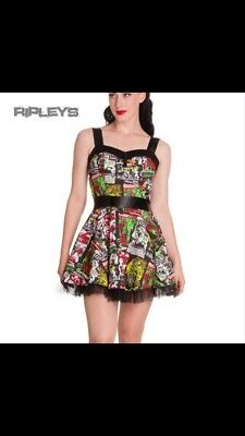 cd8eb4c9c04e HELL BUNNY I HEART ZOMBIE skulls MINI DRESS POLKA DOT alternative ...
