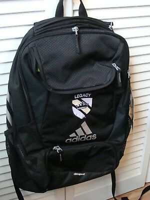 Adidas stadium backpack, black with gray accents, NEW with tags