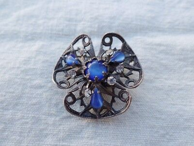 Ancienne Broche Argent Et Perles  Antique French Brooch