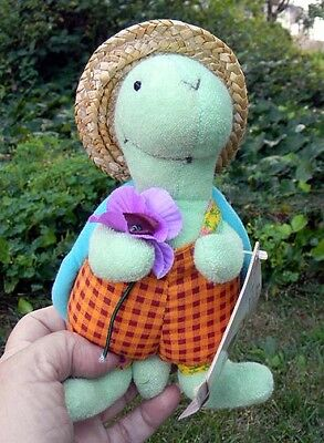 "NEW with TAG Hallmark STORYBOOK FRIENDS Crayola TREVOR TURTLE Plush 7"" Tall"