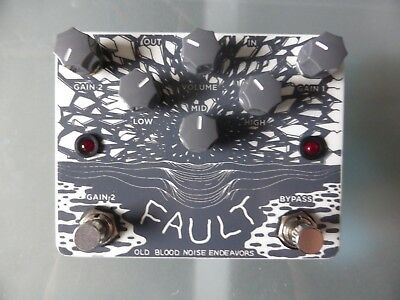 Old Blood Noise Endeavors Fault Overdrive Distortion guitar pedal - mint