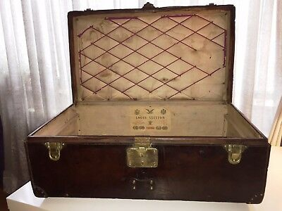 c1900 Louis Vuitton cabin trunk, hand sewn leather