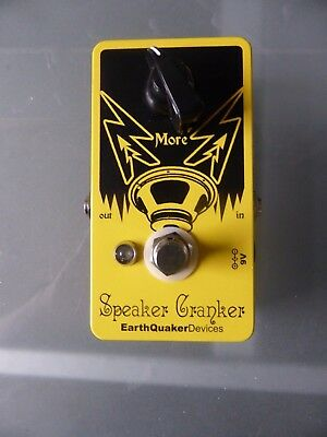 Earthquaker Devices Speaker Cranker overdrive guitar pedal - mint condition
