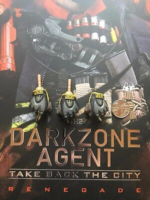 Virtual Toys The Dark Zone Renegade Gloved Hands x 3 loose 1/6th scale