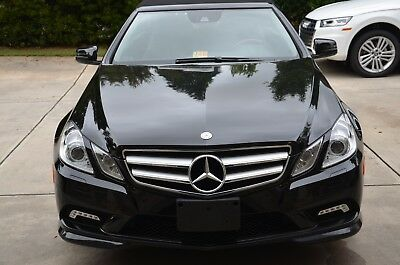 2011 Mercedes-Benz E-Class E550 2011 Mercedes Benz Black on Black E550 Cab with FACTORY CPO until 2018