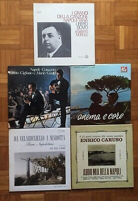 Amazing Italian Folk Lot Including 5 Lps! Top Rare Items!