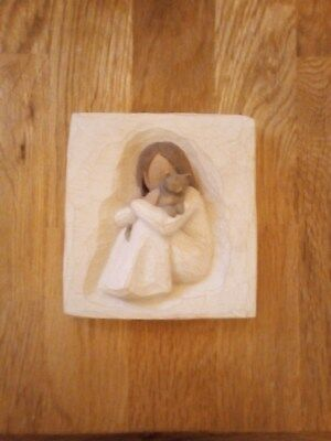 Willow Tree - Comfort - Girl with cat wall plaque