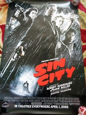 SIN CITY MOVIE POSTER 2 Sided RARE ORIGINAL ROLLED  27x40 ROBERT RODRIGUEZ
