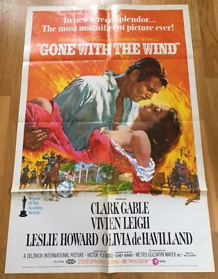 Vintage US Movie Poster - 1970 - Gone with the Wind