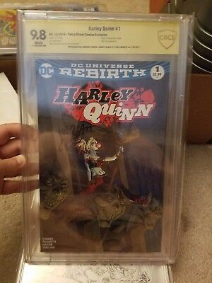 Harley Quinn #1 Yancy Street Comics Exclusive CBCS 9.8 signed x3