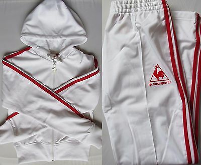 To clear LE COQ SPORTIF UK 12 WOMENS RETRO TRACKSUIT TROUSERS CROP JACKET