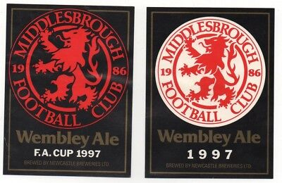 Beer Label / S - Uk -  Middlesborough Football   Wembley
