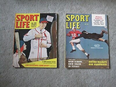 Lot Of 2 1950S Sports Magazines  ..very Nice..