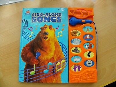 Bear in the Big Blue House Sing-Along Songs Book with Microphone - VGC