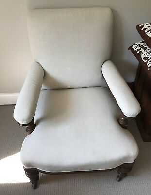 Pair Of Vintage 19Th C. English Upholstered Club Chairs Circa 1880
