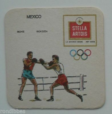 Old  Beercoaster Olympic Games  Mexico 1968, STELLA ARTOIS, Boxing