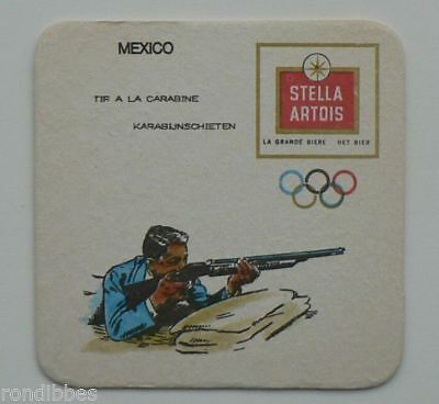 Old  Beercoaster Olympic Games  Mexico 1968, STELLA ARTOIS, Shooting