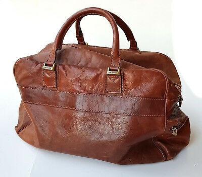 The Bridge Leather travel weekend bag Brown good condition