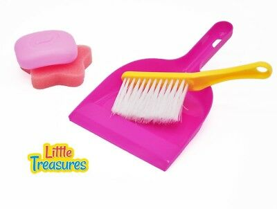 Little Treasures Little Helper 4 piece pretend and play Cleaning Play Set with
