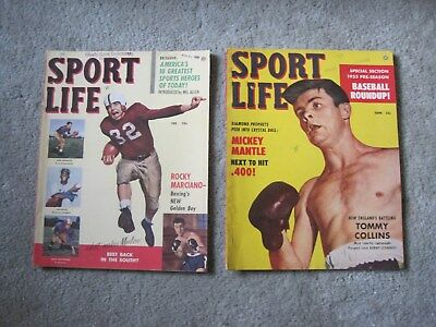Lot Of 2 1950S Sports Magazines  ..very Good Condition