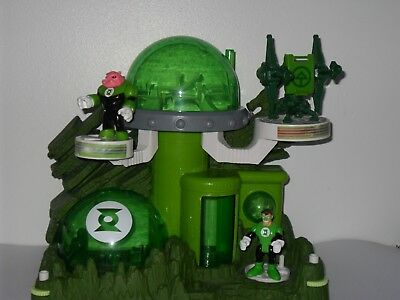 Imaginext Batman Villain Green Lantern Headquarters With 2 Figures With Weapon