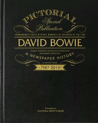 Personalised David Bowie Pictorial Newspaper Book Fathers Day Gift Birthday Gift