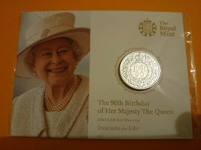 £20 Fine Silver coin. The 90th Birthday of Her Majesty the Queen 2016