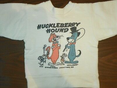 RARE VINTAGE 1959 Hanna Barbera Huckleberry Hound Children's Sweater Size 4 #X12