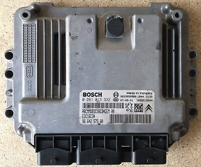 Calculateur EDC16C34 Peugeot 307 Citroen C4 1.6 HDI 90 9664257580 0281013332