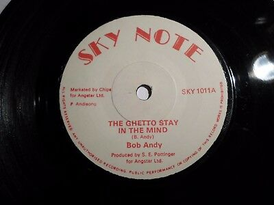 "Bob Andy - The Ghetto stay in the mind 7"" Sky Note EXC"