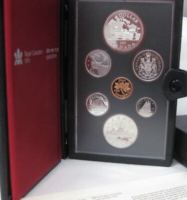 1981 Royal Canadian Proof Set Commem Silver Dollar  Trans Canada Railway