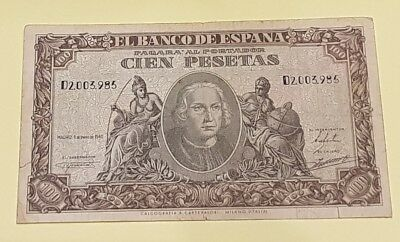 100 pesetas 1940 colon