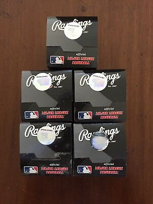 5 New Rawlings Official Major League Baseball MLB with Allen H. Selig Signature