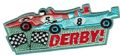 Girl Boy Cub Pinewood DERBY CAR racer track Fun Patches Crest Badges SCOUT GUIDE