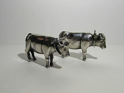 Beautiful Antique Solid Silver Cow Animal ornaments
