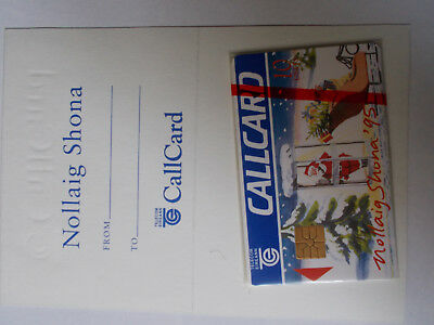 Christmas '95 mint callcard with gift card