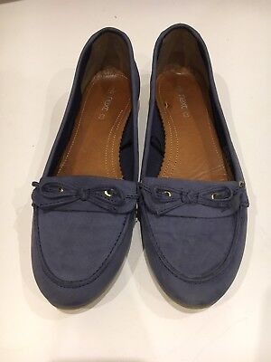 Ladies Next 7 Loafers Blue