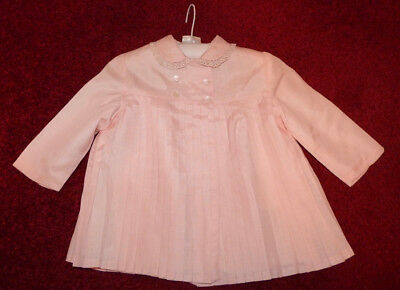 1960s VINTAGE CHILD'S / BABY PLEATED JACKET - PINK  - LINED