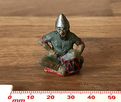 Vintage Elastolin? Well Painted & Executed Persian Convert Toy Soldier with Drum