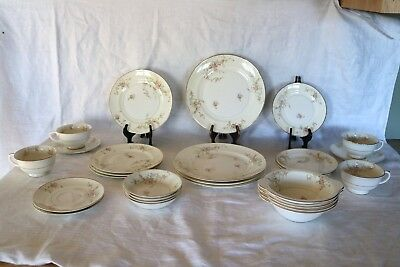 Pope Gosser China GWENDOLYN 1167 U.S.A. 28 Piece Set 7 Pc Place Set Serv for 4