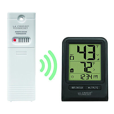 La Crosse Technology Weather Thermometer New Wireless Outdoor Indoor Tempature