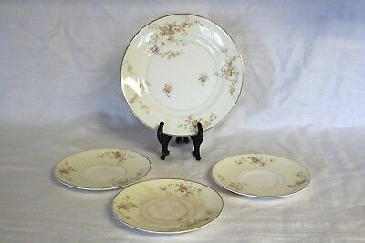 Pope Gosser China GWENDOLYN 1167 U.S.A. Luncheon Plate (1), Saucers (3)