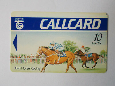 Horse racing DUMMY callcard with offset printing ERROR, Schulmberger 1991