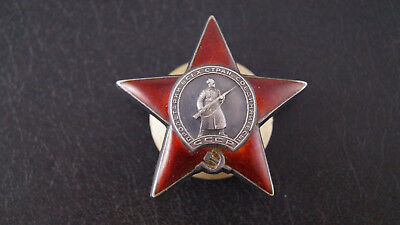 VERY VERY RARE Order of the USSR Red Star Rare type Three rivets