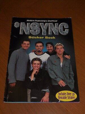 NSYNC Modern Publishing's Unofficial Sticker Book RARE Stickers INCLUDED