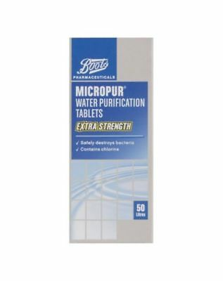 Brand New Boots MICROPUR water purification tablets extra strength 150 tablets